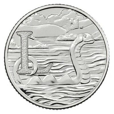 2018 Letter L 10p Coin - LOCH NESS - The Great British Coin Hunt - Royal Mint