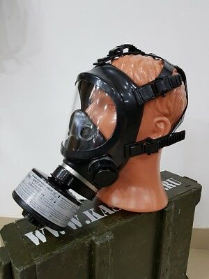 Panoramic Gas Mask Respirator BRIZ-4301M (PPM) complete with filter. New!