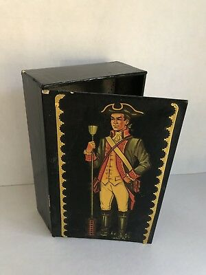 Vintage King Edward the Seventh Box container illustrated portrait design pic