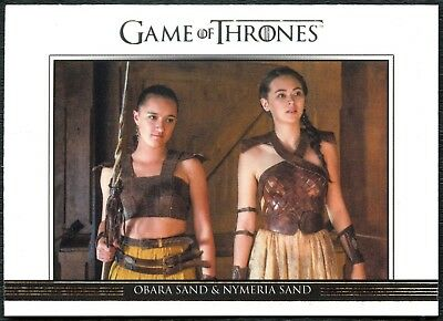 Obara&Nymeria#DL34 Game Of Thrones Relationships S6 Rittenhouse Chase Card C2283