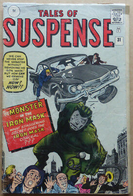 TALES OF SUSPENSE #31, CLASSIC SILVER AGE with STAN LEE & STEVE DITKO ART, 1962.
