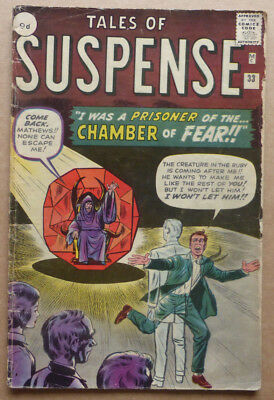 TALES OF SUSPENSE #33, EARLY SILVER AGE with STAN LEE, DITKO & KIRBY!!