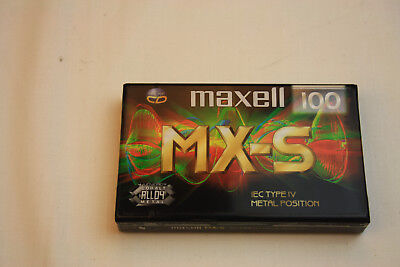 MAXELL MX S 100 Type IV Metal (1x) SEALED CASSETTE TAPE