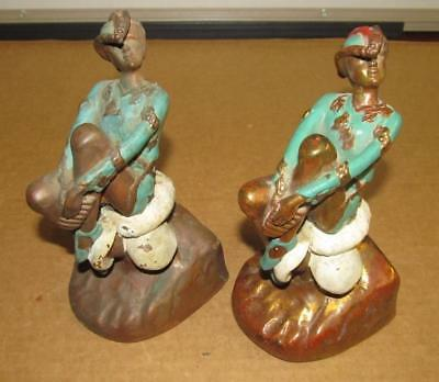 Vintage Marion Bronze CO Signed MB Peter Pan Fairy Tale Bookends
