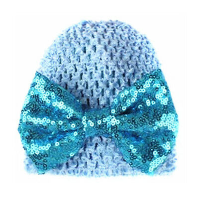 Girl Baby Bow Beanie Cap Toddler Infant Turban India Hat Warmer Supplies 6A