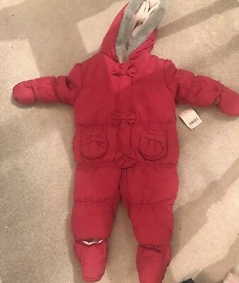 691f407315be BABY GIRLS PRETTY Pink All In One Pramsuit By Mothercare Size 0-3 ...
