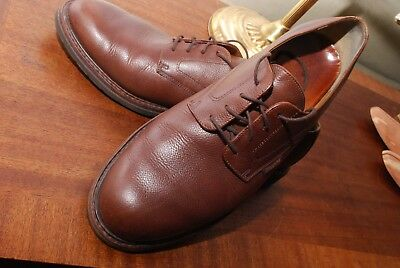 MEPHISTO hand-made in FRANCE, LEATHER derby lace-up in BROWN 12 - 13