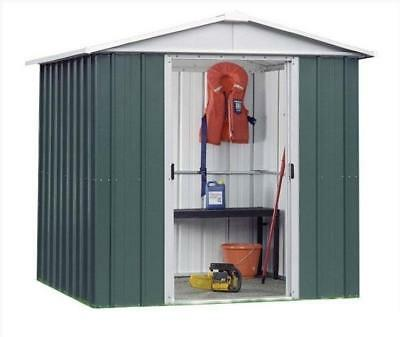 844 Customer Returned Yardmaster Apex Metal Shed - Max Size 6ft 8in x 4ft 6in