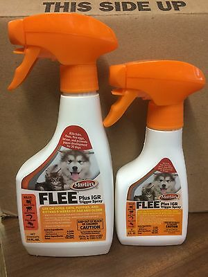 8 Oz Martin's Flee plus IGR Spray for Dogs and Cats, with Fipronil
