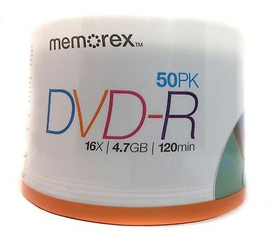 Memorex DVD-R 4.7GB 16x 50-Pack Spindle