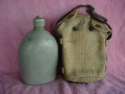 WW1 WW2 US Cavalry Canteen Cover and Canteen Original