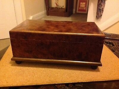 Vintage Antique Small Wooden Box on Four Round Feet