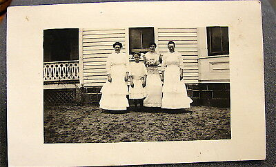 Antique~~Real Photo Post Card---Un-Posted----4 Ladies