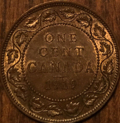 1919 CANADA LARGE 1 CENT PENNY - Excellent example!