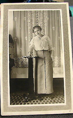 Antique~~Real Photo Post Card---Un-Posted----Young Lady Posed
