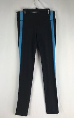 XERSION Black Turquoise Blue Legging Yoga Gym Pilates Fitted Small S EUC