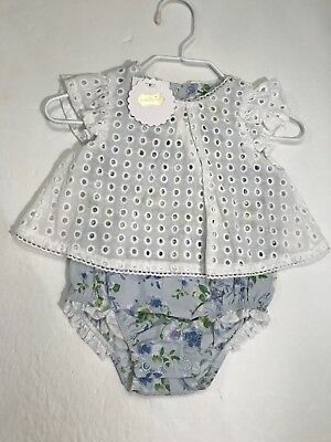 3f898a670a57 MUD PIE BABY Girls Eyelet and Floral One Piece Crawler