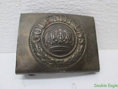 WWI GERMAN Brass Gott Mit Uns Imperial Soldier Belt Buckle !