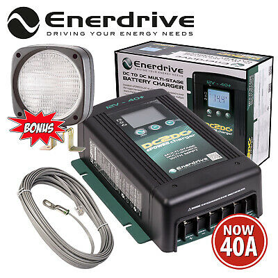 Enerdrive Epower En3Dc40+ 12V 40A Dc To Dc Battery Charger Mppt Solar + Worklamp