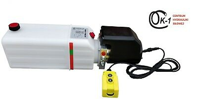 Dump Trailer Hydraulic Power Unit 12V 2000 W SIngle Action Remote 12 Quart PUMP