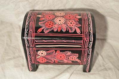 Los Cinco Soles Artisian Hand Painted Legged Wooden Box MSRP 39.95