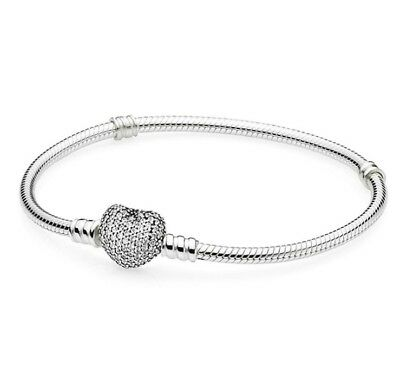 925 Silver Snake Chain Bracelets Bangle Fit sterling European Beads Charm Y#001