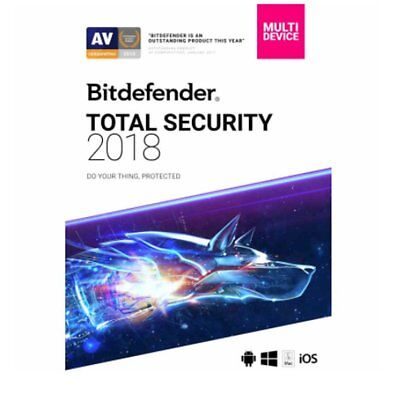 Bitdefender Total Security 2019 5 Device 6 Month Key (Activation Key) Key