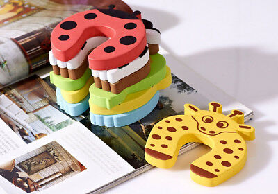 20 x Door Stop Stopper Cartoon Wedge Protection Finger Safety Home Baby Kid