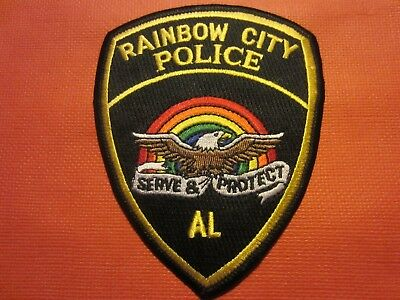 Collectible Alabama Police Patch,Rainbow City, New