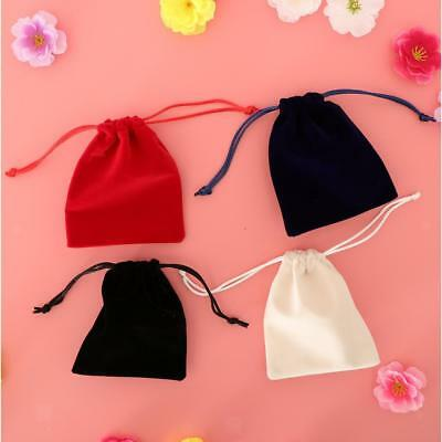 4pcs Small Gift Bag Velvet Cloth Jewelry Pouch Drawstring Wedding Favor Bags