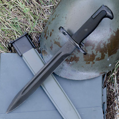 "15"" Bayonet US Military Tactical Survival Hunting Knife Fixed Blade Rambo Army"