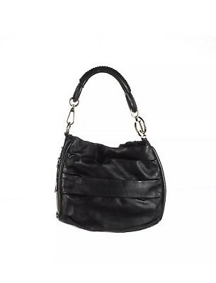 0a3c892bcc43 CHRISTIAN DIOR Black Lambskin Leather Pleated Libertine Hobo Bag