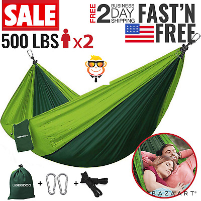 Camping Hammock 2 Person Outdoor Parachute Lightweight Travel