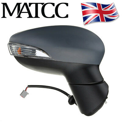 Electric Heated Primed Door Wing Mirror O/S Right For Ford Fiesta MK7 MK8 08-12