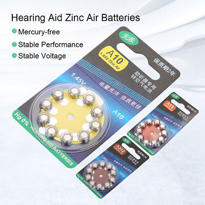 100Pcs Hearing Aid Batteries Special Zinc Air Batteries A10 A13 A312 Hearing Aid