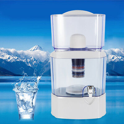 24Litre 5 Stage Water Filter Ceramic Carbon Mineral Bench top Dispenser Purifier