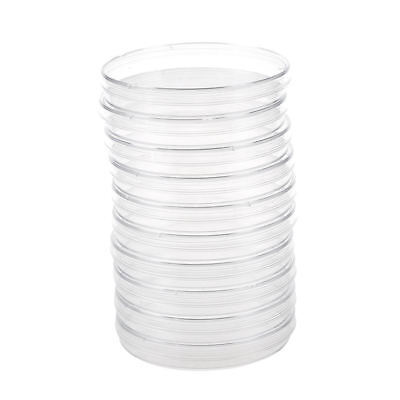 3X(10PCS Sterile Plastic Petri Dishes PLATES Bacterial Yeast 90x15mm  G3O5)