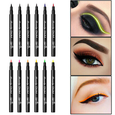 Waterproof Colorful Liquid Eyeliner Pencil Not Blooming Lasting Long Eye Liner