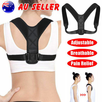 Adjustable Therapy Posture Corrector Clavicle Back Support Brace Belt Men &Women