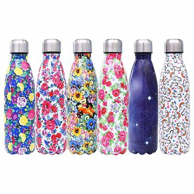 Stainless Steel Vacuum Insulated Water Bottle Flask Thermal Sports Chilly RN