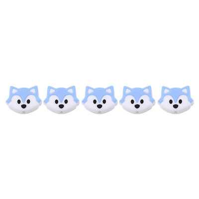Silicone Fox  Beads Food Grade Silicone Tooth Glue Beads DIY Jewelry B