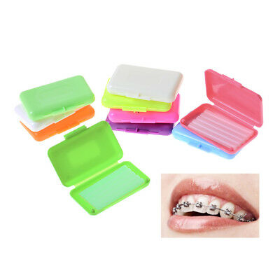 1 Box Dental Orthodontics Wax For Bracket Braces Gum Irritation Fruit Flavor PR
