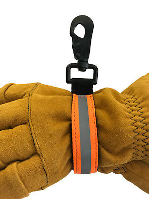 Firefighter Glove Strap Heavy Duty Turnout Gear Reflective Trim Strap - Orange
