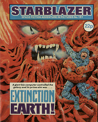 Extinction Earth,starblazer Space Fiction Adventure In Pictures,no.151,1985