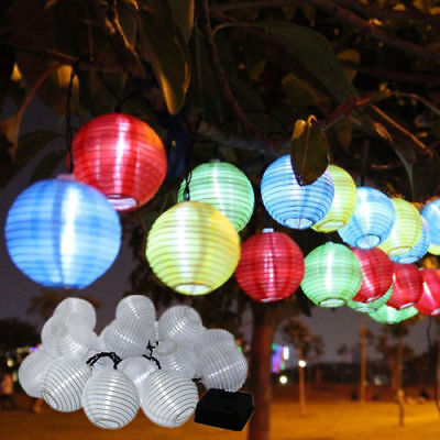 LED Solar Power Lantern Fairy String Lights Multi Chinese Lantern Style Decor MC