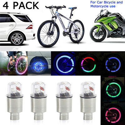 Bike Bicycle Cycling Car Tyre Wheel Neon Valve Firefly Spoke LED Light Lamp  ER