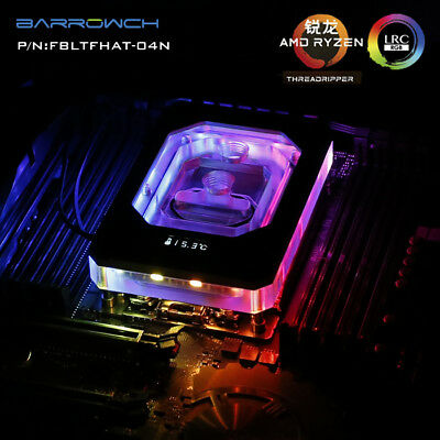 Barrowch AMD RYZEN THREADRIPPER x399 CPU Water Block - SILVER