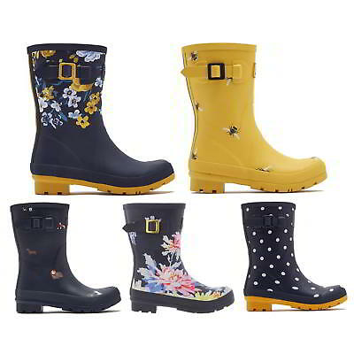 Joules Molly Welly Womens Mid Calf Wellies Rubber Wellington Boots Size UK 4-8