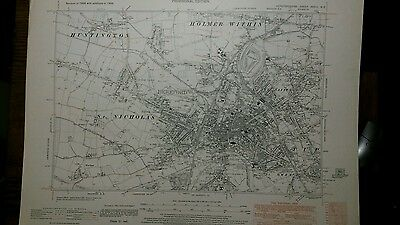 Original Ordnance Survey 6 inch - 1 mile map. HEREFORD 1928 with additions 1938