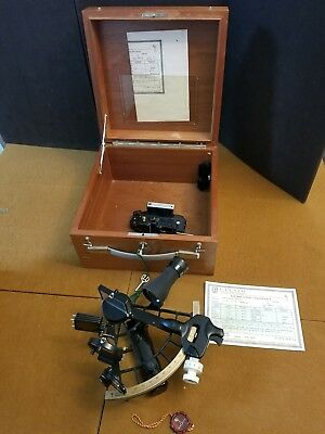 C. Plath Sextant*Brass arch*SN 58478 GREAT Condition 3-5-1974